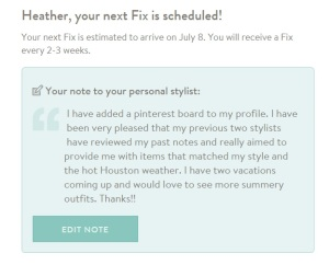 stitch fix june note to stylist