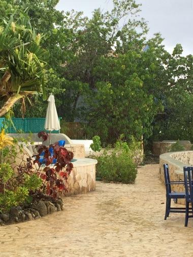 Lush property grounds