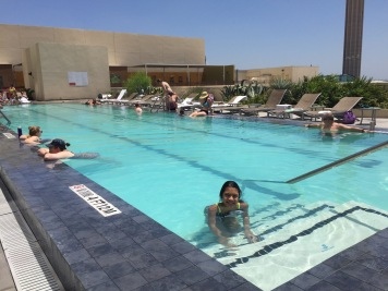Pool time at the Grand Hyatt