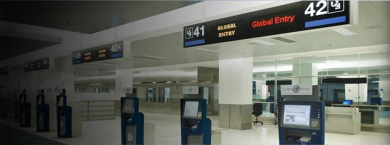 Global Entry kiosks for entering the U.S.