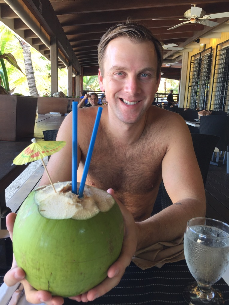 Best drink ever- fresh coconut water!