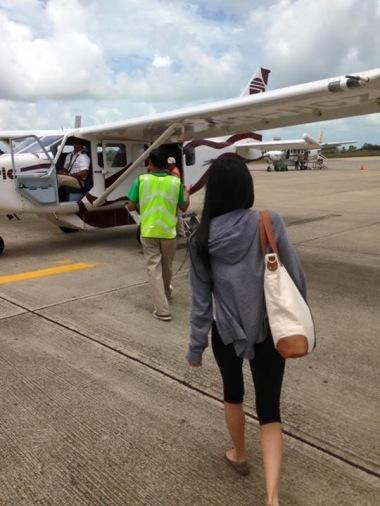 Flight to Placencia via Tropic Air