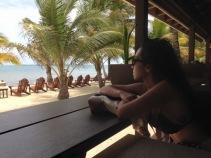 Enjoying the calm sea