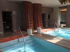 Plunge pool, whirlpool and saunas