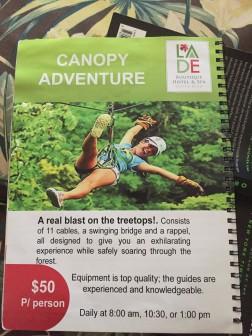 Canopy Adventure Description