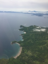 View flying in to Liberia Airport