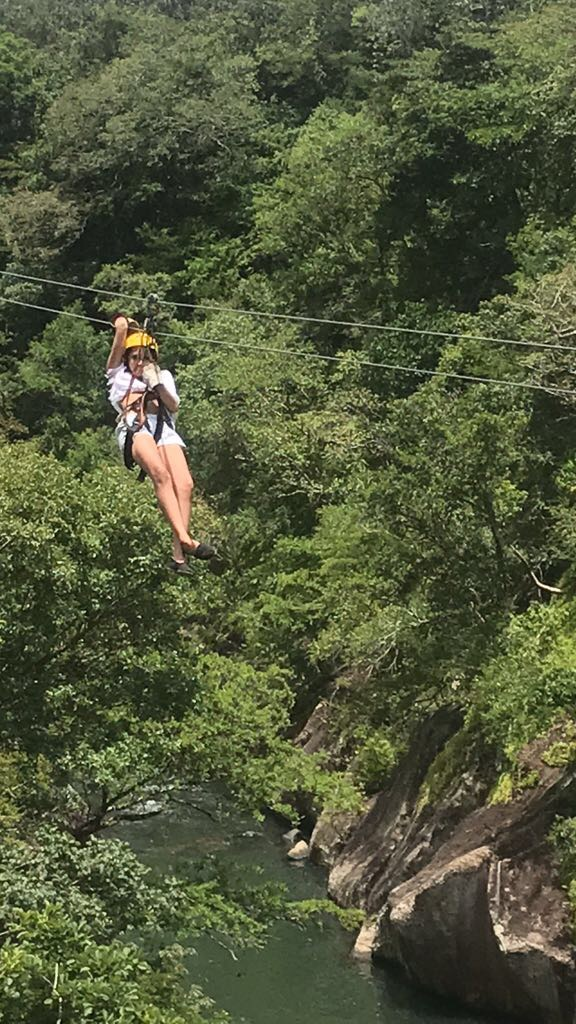 Zip-lining over the trees