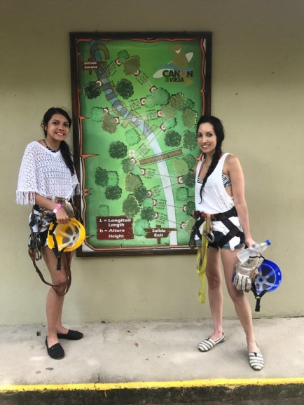 Map of the Canopy Tour