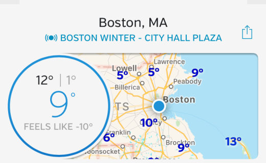 Freezing in Boston