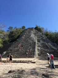 Only 130 steps to the top (Coba)