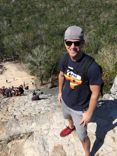 Top of Ancient Pyramid @ Coba