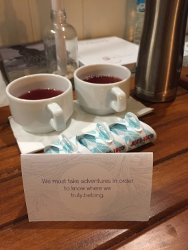 Nightly teas delivered to our room