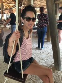 Having fun at the beach in Tulum