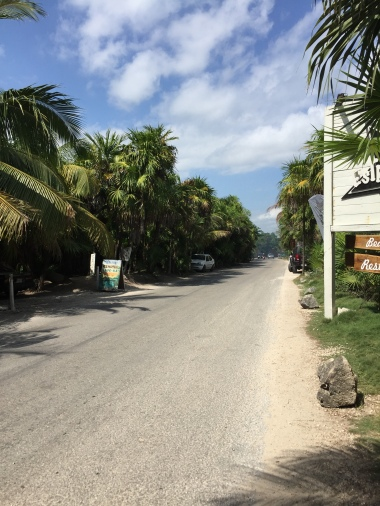 Wandering the streets of Tulum