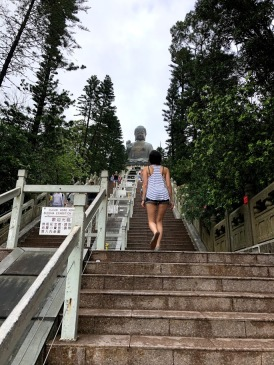 Only 268 steps to the top!