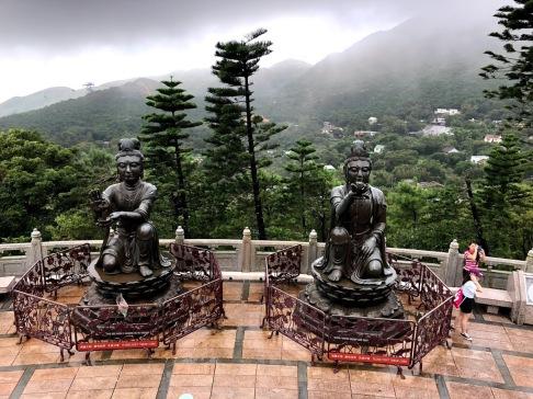 2 of the Six Devas (statues around Big Buddha)