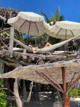Enjoying the sun in one of the hammocks at Kanan